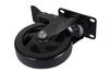 5'' Black Paint Medium Duty PU Swivel Stem Hospital Bed Caster Wheels