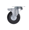 2.5'' Light Duty Black PVC Plate Swivel Caster Wheels