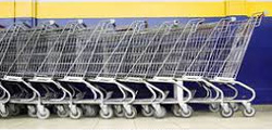 Why can the caster wheel of supermarket shopping cart turn freely?